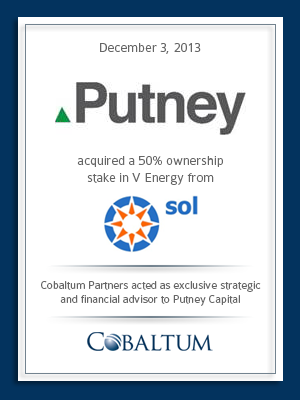 Cobaltum advises Putney Capital on Acquisition of SPDL from SOL Group